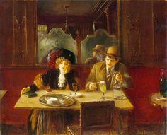 Un cafe dit l'Absinthe, Jean Béraud, 1909. Musée Carnavalet