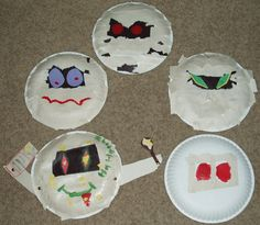 Last fall one of my children was yearning to do some fall crafts to decorate our home. We found pictures of several crafts made from paper plates and decided to try our hand at a couple. Talk about some super easy and cheap entertainment!