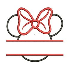 Instant Download - Minnie Mouse Head Split Monogram Frame 4x4, 5x7 & 6x10 Machine Embroidery Applique Design available All Formats