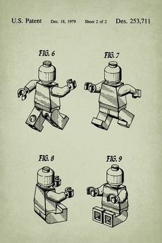 Lego Figure Patent Art Poster Print #patentartposters