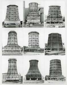 Bernd and Hilla Becher | Cooling Towers, 1972