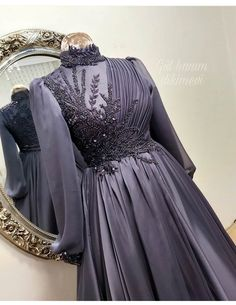 Hijab Dress Party, Hijab Style Dress, Muslim Fashion, Hijab Fashion, Fashion Dresses, Cheap Formal Dresses, Modest Dresses, Party Wear Gowns Online, Simple Long Dress