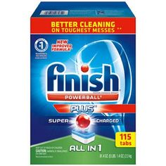Finish All-In-One Dishwasher Detergent Powerball Tabs Bonus Pack, 115 Count Best Dishwasher Detergent, Dishwasher Cleaner, Dishwasher Tablets, Dish Detergent, Dishwashing Gloves, Dishwashing Liquid, How To Clean Crystals, Oven Cleaning, All In One
