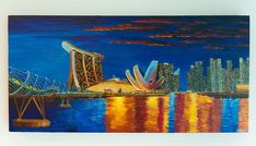 Singapore Skyline, Yulia McGrath, Acrylics on canvas, 51*102, 2017 You can #purchase it #online. Order Now https://www.exquisite-art.com/…/pict…/singapore-skyline.html . #yuliamcgrath #acrlyconcanvas #exquisiteart #singapore #art #artist #love #painting #work #home #artwork #gallery #artoftheday #creative #inspiration #contemporaryart #artcollector #collectionneur #drawing #design #style #fineart