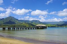 The Pier on Hanalei Bay - Land of Puff the Magic Dragon who lives by the sea.