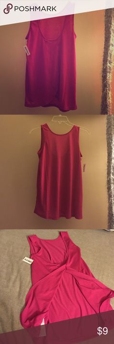 Old Navy tank Pink tank, slightly loose fitting. Has cute split opening in the front Old Navy Tops Tank Tops