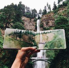 ♕ insta and pinterest @amymckeown5 #LandscapeWatercolor