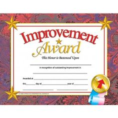Most improved student certificates finger foods pinterest award certificate improvement award student certificate end of the school year yadclub Gallery