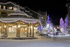Whistler Village during Christmas