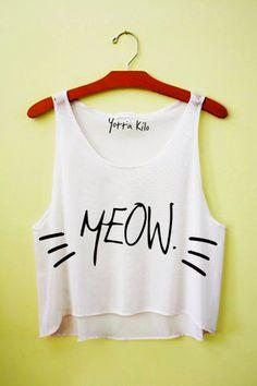 Meow Crop Tank Top