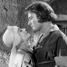 Olivia de Havilland and Errol Flynn in The Adventures of Robin Hood