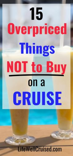 Going on a cruise and want to avoid wasting money? Avoid overspending on these 15 overpriced items on a cruise. Things are things not to buy on a cruise vacation. Cruise Port, Cruise Travel, Cruise Vacation, Cruise Ship Reviews, Best Cruise Ships, Packing List For Cruise, Cruise Tips, Carnival Cruise Ships, How To Book A Cruise