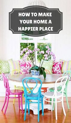 Boho Dining Room Decor - How can I make a small dining room look bigger? Boho Dining Room Decor - What is a good color for a dining room? Interior Exterior, Interior Design, Painted Chairs, House Smells, Outdoor Furniture Sets, Outdoor Decor, Kitchen Cupboards, Room Colors, Architecture