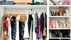 How To Organize Your Closet In Five Simple Steps (Seriously!) - this looks like my closet Walk In Closet, Closet Space, Master Closet, Home Organization Hacks, Closet Organization, How To Organize Your Closet, My New Room, Getting Organized, Decoration