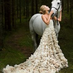 I'm going to ride in on my horse on my wedding day!
