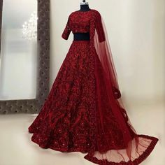 The colour of your lehenga makes your bridal look unique! Explore our list of Indian bridal lehenga colours inspirations that you'd surely fall in love with! Indian Wedding Gowns, Desi Wedding Dresses, Indian Bridal Outfits, Indian Gowns Dresses, Indian Bridal Lehenga, Pakistani Bridal Dresses, Indian Designer Outfits, Red Lehenga, Lehenga Choli