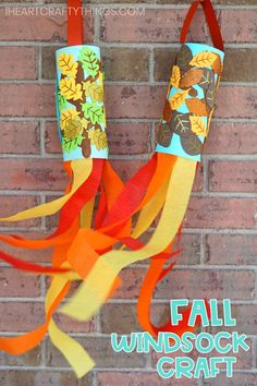 Fall Windsock Craft for Kids -Easy fall craft for preschoolers! Fall Windsock Craft for Kids -Easy fall craft for preschoolers! Easy Fall Crafts, Thanksgiving Crafts For Kids, Fun Crafts, Decor Crafts, Kindergarten Thanksgiving Crafts, Rustic Crafts, Thanksgiving Activities, Summer Crafts, Design Crafts