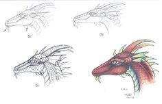 Easy Dragon head tutorial 2 by who-stole-MY-name on DeviantArt Easy Dragon Drawings, Dragon Head, My Name Is, Deviantart, Fantasy, Dragons, Face, Artist, Anatomy