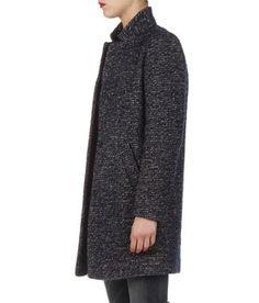 bac8fe11eb0 E-shop Manteau Chiné Bleu Caroll pour femme sur Place des tendances Groupe  Printemps.