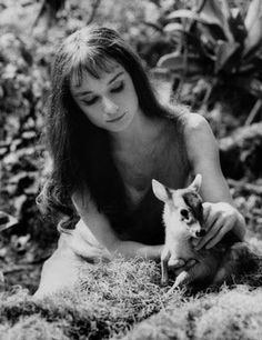 Audrey Hepburn and Pippin in Green Mansions