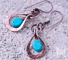 Copper and Turquoise Earrings | Flickr - Photo Sharing!
