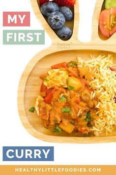 This fruity chicken curry is a fantastic first curry for babies and kids. The sweetness from the apple and sultanas pairs beautifully with the delicate spices. Not just for kids, the whole family will love this meal! Dairy Free Recipes For Kids, Baby Food Recipes, Chicken Recipes, Toddler Recipes, Easy Cooking, Cooking Recipes, European Dishes, Healthy Toddler Meals, Chicken Curry