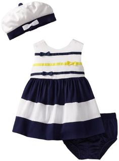 Baby girl clothes#Hartstrings Baby-Girls Newborn Woven Dress, Panty, And Hat Set