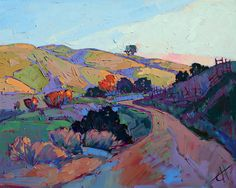 Wine Country Paso Robles Landscape California Impressionism Original Oil Painting via Etsy.