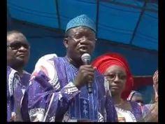 Dr Kayode Fayemi addressing the people at the reelectFayemi Mega Rally