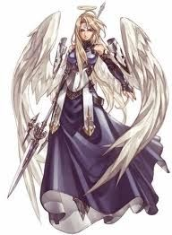 An anime stylized angel warrior… #angel #spiritual #art #anime #manga #otaku #geek