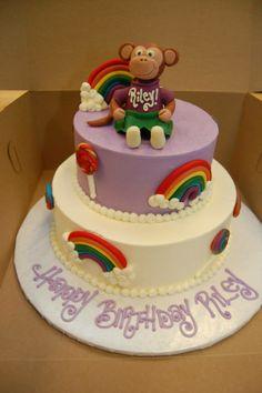 Rainbows and a monkey! #monkeycake #rainbowcake #kidscakes #birthdaycake #sweetlifedesserts