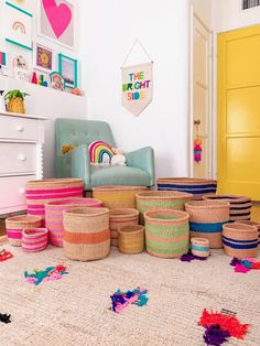 Study Areas, Sisal, Rainbow Colors, Kids Bedroom, Playroom, Kids Rugs, Merry, Organization, Storage