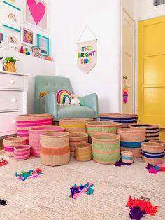 Second Hand Furniture, New Furniture, California Decor, Deep Shelves, Rainbow Nursery, Cozy Bed, Big Kids, Kids Bedroom, Room Inspiration