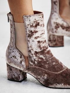New Fall 2016 Shoe and Boots at Anthropoolgie: Jeffrey Campbell Cienega Velvet Ankle Boots