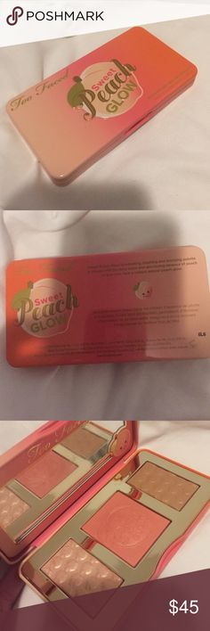 Brand new peach highlight palette Never used and authentic Too Faced Makeup Blush