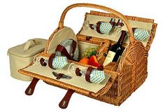 Everyone needs a great picnic basket. Just add a baguette, cheese, fruit, and of course some vino!