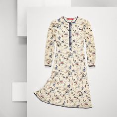 Tommy Hilfiger Silk Printed Dress - seedpearl-pt/ multi (White) - Tommy Hilfiger Dresses - main image