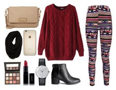 Lazy but cozy by leandra-rebeka on Polyvore featuring polyvore, fashion, style, Chicnova Fashion, Boohoo, H&M, Marc by Marc Jacobs, Klein & more, Paula Bianco and Sigma Beauty