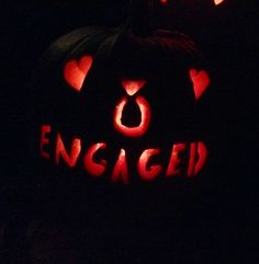 Engaged Pumpkin Carving I Will Do This