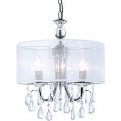 Lustre en cristal plafonnier 6 feux lampe luminaire