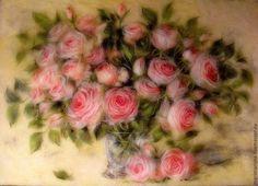 """Картины цветов ручной работы. Ярмарка Мастеров - ручная работа Картина из шерсти """" Романс"""". Handmade."""