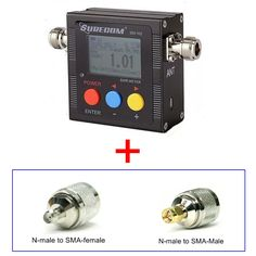 409shop product SURECOM SW-102  SW102 vswr frequency counter & power meter FREE ADAPTOR FOR BAOFENG WALKIE TALKIE