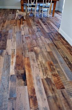 Tennessee Wood Flooring is a Tennessee based hardwood flooring company located in Sevierville, Tennessee. Reclaimed Hardwood Flooring, Diy Flooring, Kitchen Flooring, Hardwood Floors, Floor Design, House Design, Pallet Floors, Wood Look Tile, My New Room