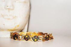 Vintage Celtic inspired braceletlinked gold by Lilacwinevintage, $15.00