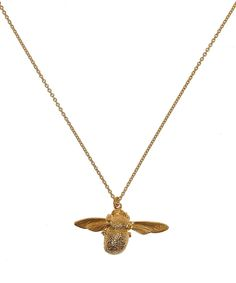 Alex Monroe Gold-Plated Bumblebee Necklace | Jewellery by Alex Monroe | Liberty.co.uk 150L