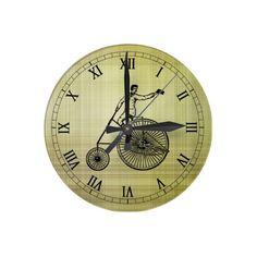 Antique Bike Wall Clock #steampunk