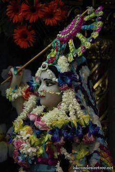 Flower Dressing on Occasion of Chandan Yatra at ISKCON Vrindavan on 13 March 2013