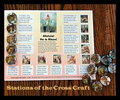 Stations of the Cross Craft and Devotional Tools for Kids Catholic Crafts, Catholic Kids, Catholic School, Catholic Traditions, Catholic Homeschooling, Ccd Activities, Sign Of The Cross, Cross Crafts, Christian Religions