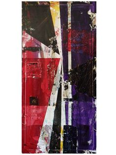 "'VANITY' - $2,000 - Mixed Media 48"" x 24"" x 1.5"" gallery wrapped canvas - Abstract Art - by J. FORCIER"