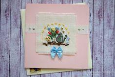 Chez Mabelle: Вышитая штучка февраля и отчет о подарках / February x-stitch postcard and gifts